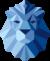 Löwenkopf abstrakt gestaltet