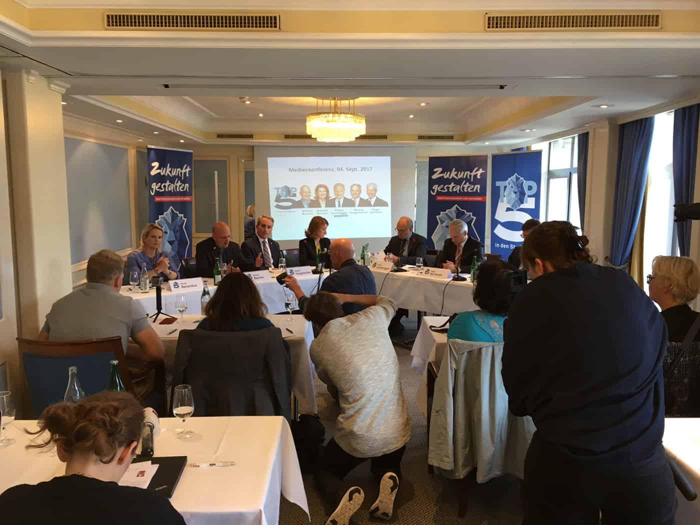 TOP5 Medienkonferenz alle Kandidaten